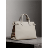 Burberry The Medium Banner in Leather and House Check Naturel