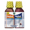 Vicks NyQuil and DayQuil SEVERE Cough Cold and Flu Relief Liquid, 12 Fl Oz, pack of 2