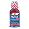 Vicks NyQuil HBP Cough Cold and Flu Nighttime Relief for People with High Blood Pressure, Cherry Liquid 12 FL Oz