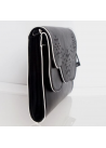 Nine West $69 NWT Ailey Clutch Bag Black White Shoulder Bag Chain Strap