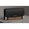 Burberry House Check And Leather Continental Wallet