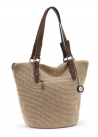 SILVERWOOD LARGE TOTE BAMBOO WITH GOLD
