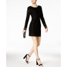 GUESS Velvet Sheath Dress, I.N.C. Clutch & Steve Madden Dress Sandals