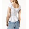 GUESS Sienna Smocked Peplum Top