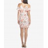 GUESS Floral-Print Cold-Shoulder Sheath Dress