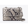 FLEMING EMBOSSED SMALL CONVERTIBLE SHOULDER