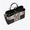 BLOCK-T EMBOSSED TRIPLE-COMPARTMENT TOTE